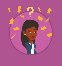 Young business woman thinking vector