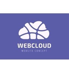 Abstract net cloud logo vector image