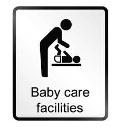 Baby Care Facilities Information Sign vector image vector image