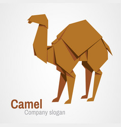 camel logo origami vector image vector image