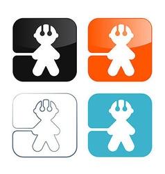 Man Icons - Symbols Set vector image vector image
