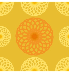 Seamless pattern Orange juice background Round vector image