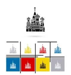 St Basil Cathedral icon vector image