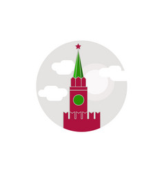 symbols the flat round ikon the kremlin moscow vector image