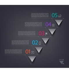 Timeline infographics design template with 5 vector image vector image