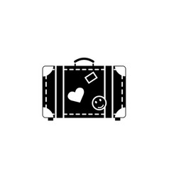 travel bag solid icon travel tourism vector image