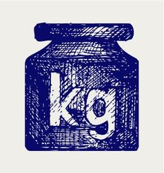 Weight kilogram vector image vector image