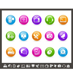 Communication Icons Rainbow Series vector image