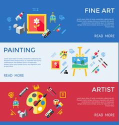 digital blue red artist vector image vector image