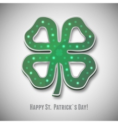 Irish shamrock saint patricks day icon vector image