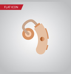 isolated hearing aid flat icon audiology vector image