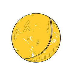 retro ping pong ball vector image