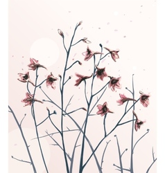 Romantic Wild Flowers Composition vector image vector image