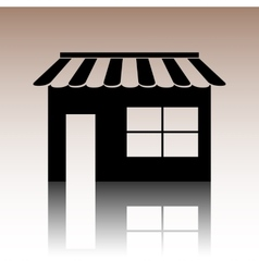 Shop icon over white background vector image