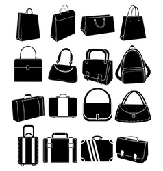 Bag icons set vector image vector image