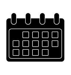 calemdar schedule symbol vector image vector image