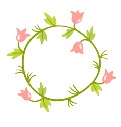 Floral Frame Cute retro flowers wreath vector image