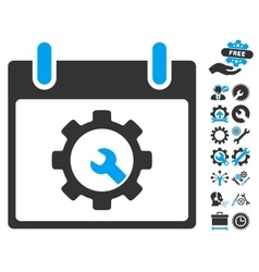 Options Tools Calendar Day Icon With Bonus vector image vector image