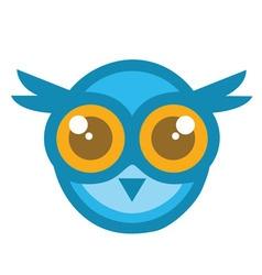 Owl Head Mascot Cartoon vector image vector image