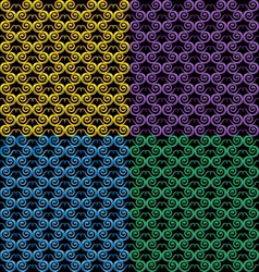 Pattern in the form of snake vector image vector image
