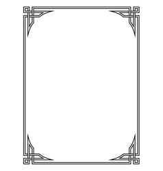 Roman style black ornamental decorative frame vector image vector image