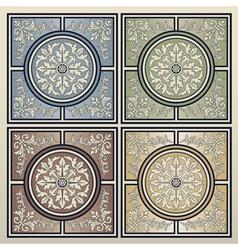 Vintage tile background vector image vector image