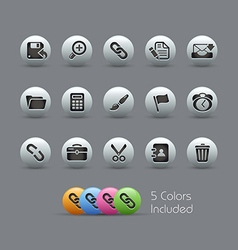 Interface Icons Pearly Series vector image vector image