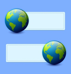 Planet Earth banners vector image vector image