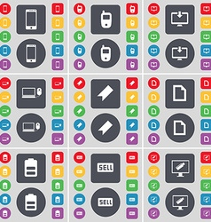 Smartphone Mobile phone Monitor Laptop Marker File vector image vector image