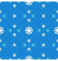 Winter seamless pattern Snowflakes background vector image vector image