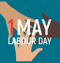 1 may labour day poster or banner vector