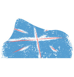 abstract flag sketch of united kingdom vector image