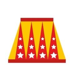 Animal circus podium isolated icon design vector