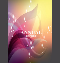 annual business reporting and analysis cover vector image