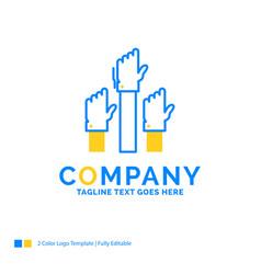 Aspiration business desire employee intent blue vector