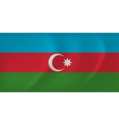 Azerbaijan waving flag vector image