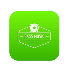 Bass music icon green vector