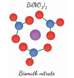 Bismuth nitrate BiN3O9 molecule vector image