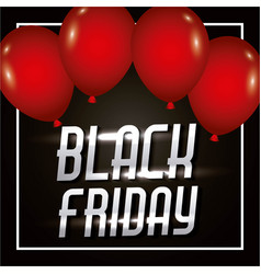 black friday card discount offer shopping red vector image