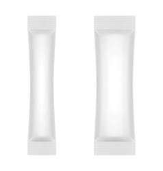 Blank White Foil Sachet For Sugar Coffee Salt vector