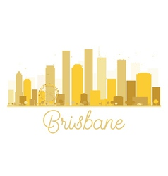 Brisbane City skyline golden silhouette vector