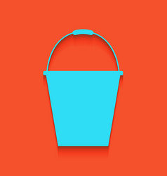 Bucket sign for garden whitish icon on vector