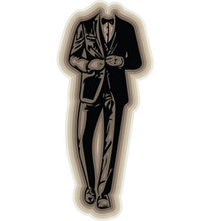 business man black silhouette vector image