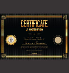 Certificate template retro design 6 vector