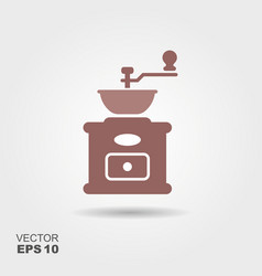 coffee grinder icon vector image