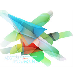 Colorful triangle shape vector