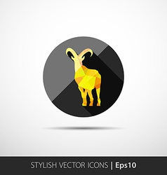 colorful with silhouette of goat vector image