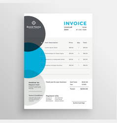 Creative business invoice template made with vector