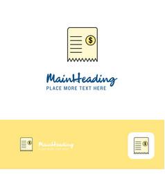 creative invoice logo design flat color logo vector image