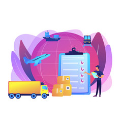 Customs clearance concept vector